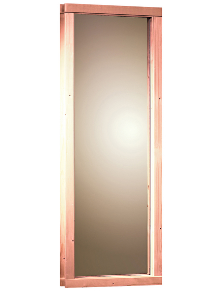 KARIBU Saunafenster, natur, geeignet für: Karibu Sauna mit 68 mm Wandstärke, natur