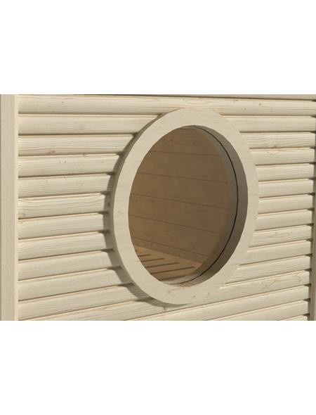 WEKA Saunafenster, Ø: 60 cm, graphit