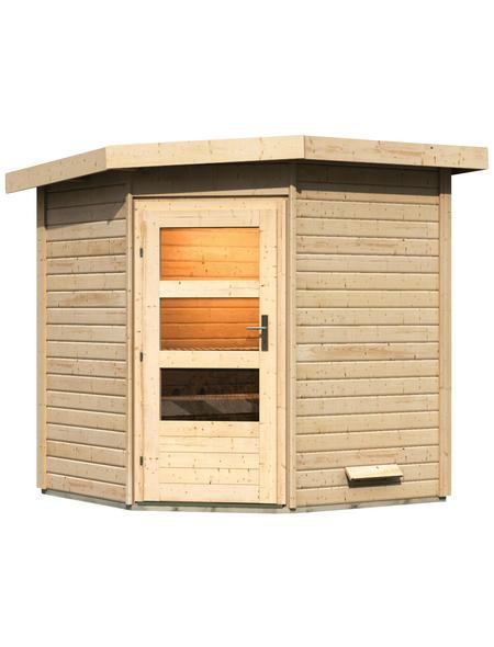 KARIBU Saunahaus »Bauske«, BxTxH: 196 x 196 x 226 cm, ohne Ofen