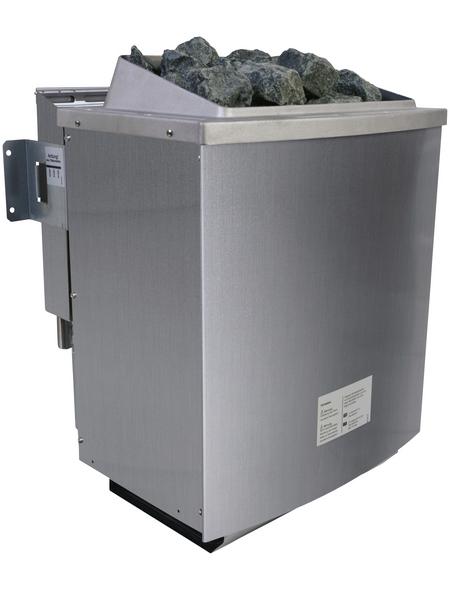 WOODFEELING Saunahaus »Birka 1«, BxTxH: 231 x 273 x 235 cm, 9 kW Bio-Kombi-Ofen mit ext. Steuerung