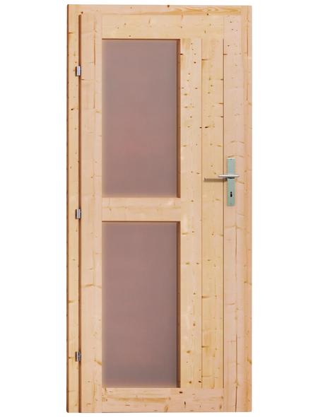 KARIBU Saunahaus »Goldingen 1«, B x T: 231 x 196 cm, mit Ofen, integrierte Steuerung