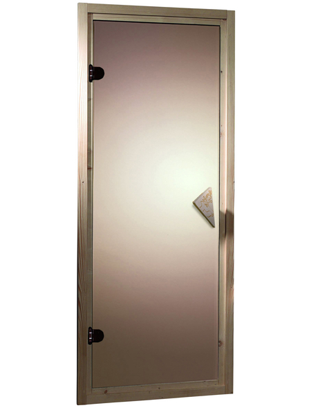 KARIBU Saunatür, bronzefarben, geeignet für: , bronzefarben