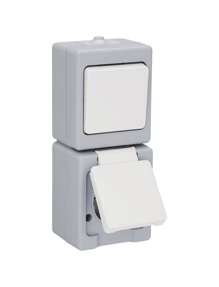 KOPP Schalter-Steckdose-Kombination »STANDARD«, grau, Thermoplast