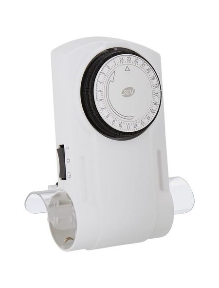 REV Schaltuhr, Premium, mit Kinderschutz, 230 V, Weiß
