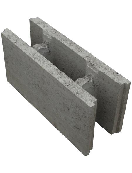 EHL Schalungsstein, BxHxL: 17,5 x 50 x 25 cm, glatt, Beton
