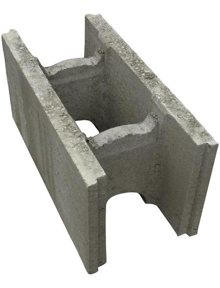 EHL Schalungsstein, BxHxL: 24 x 50 x 25 cm, glatt, Beton