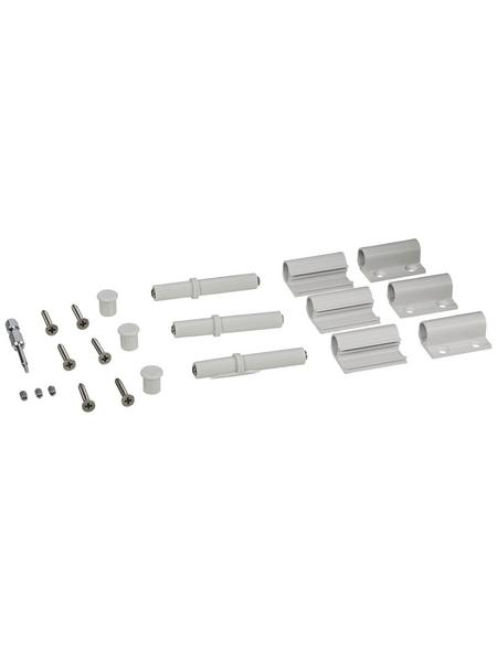 WINDHAGER Scharnier, Aluminium, weiß, 3 Stück