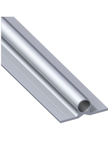 alfer® aluminium Scharnierprofil, Silber, Aluminium