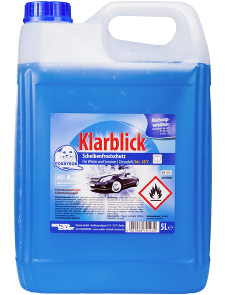 RobbyRob Scheibenfrostschutz, Klarblick -30°C, Blau, 5 l