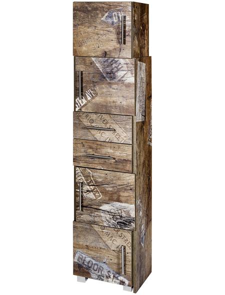 SCHILDMEYER Schiebe-Regal »Sofia«, BxHxT: 38 x 165 x 31,5 cm