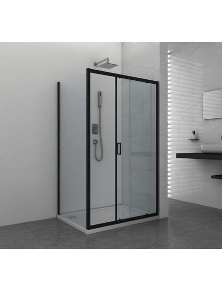 SANOTECHNIK Schiebetür »Elite Black«, Schiebetür, BxH: 118 x 195 cm