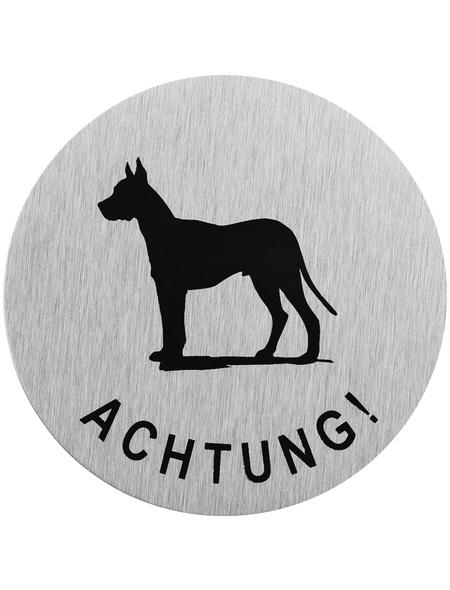 """SEILFLECHTER Schild, """"Achtung Hund"""", BxH: 7,5 x 7,5 cm"""