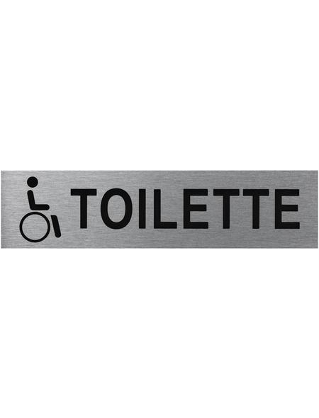 """SEILFLECHTER Schild, """"Behinderten Toilette"""", BxH: 16 x 4 cm"""