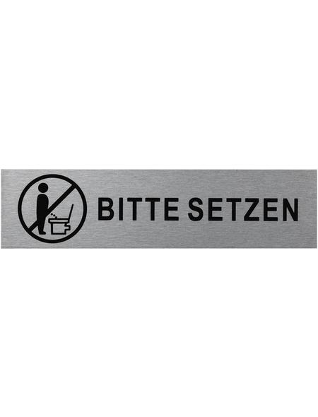 "SEILFLECHTER Schild, ""Bitte setzen"", BxH: 16 x 4 cm"