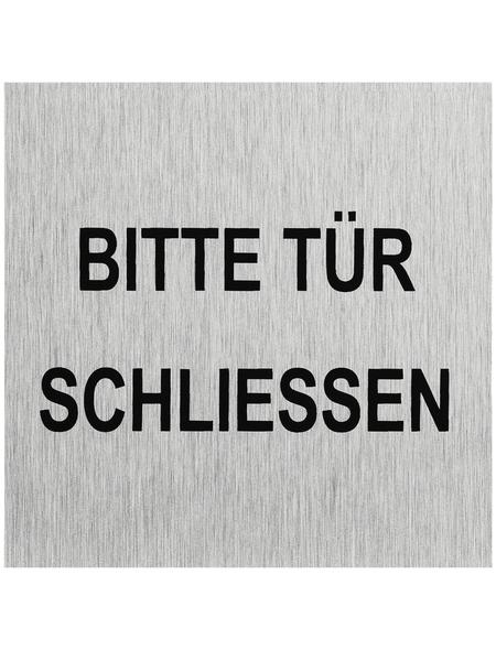 "SEILFLECHTER Schild, ""Bitte Tür schließen"", BxH: 6 x 6 cm"