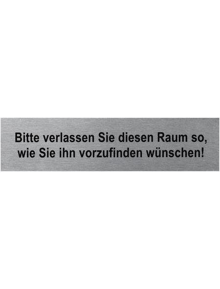 """SEILFLECHTER Schild, """"Bitte verlassen Sie diesen Raum"""", BxH: 16 x 4 cm"""