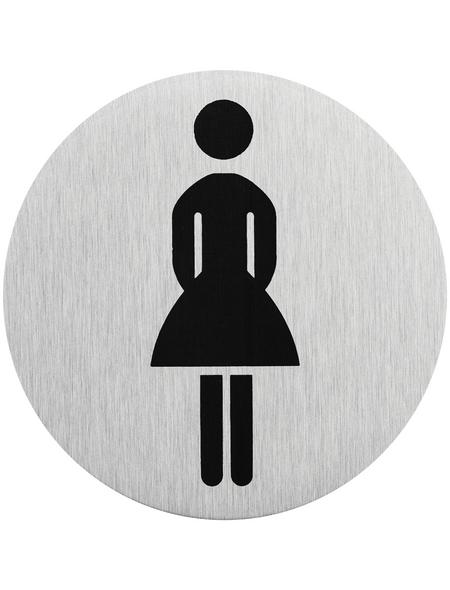 """SEILFLECHTER Schild, """"Frau"""", BxH: 7,5 x 7,5 cm"""