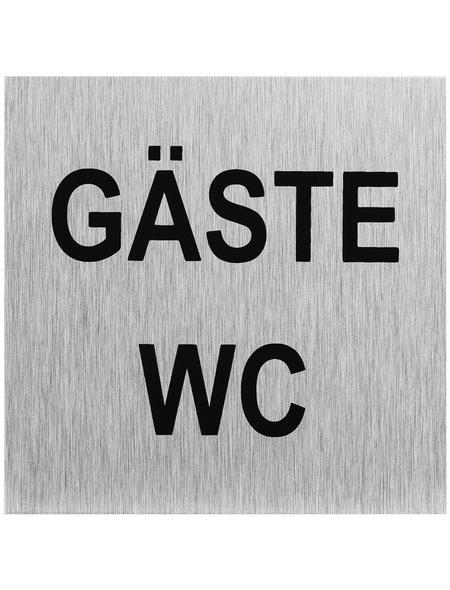 "SEILFLECHTER Schild, ""Gäste WC"", BxH: 6 x 6 cm"