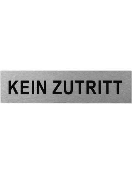 """SEILFLECHTER Schild, """"Kein Zutritt"""", BxH: 16 x 4 cm"""