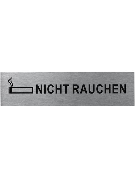 """SEILFLECHTER Schild, """"Nicht rauchen"""", BxH: 16 x 4 cm"""