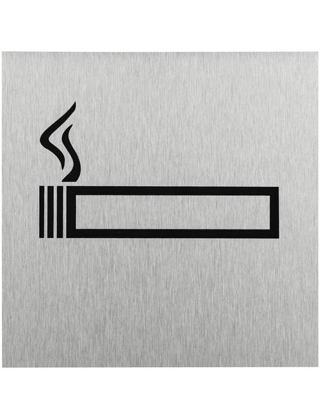 """SEILFLECHTER Schild, """"Rauchen erlaubt"""", BxH: 12 x 12 cm"""