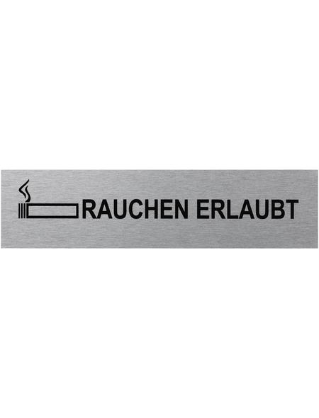 """SEILFLECHTER Schild, """"Rauchen erlaubt"""", BxH: 16 x 4 cm"""