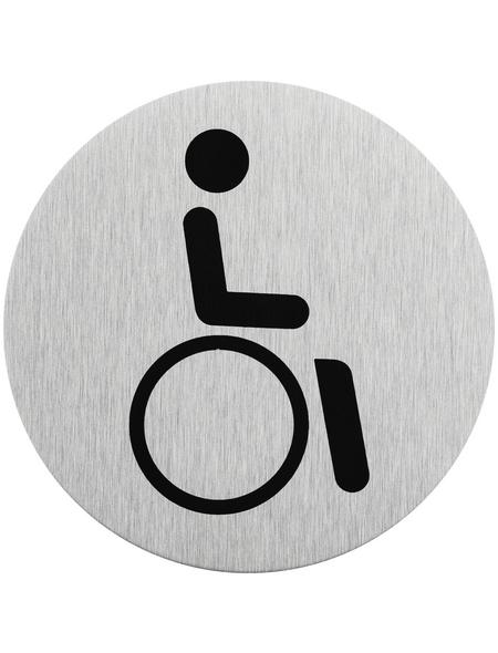 """SEILFLECHTER Schild, """"Rollstuhlfahrer"""", BxH: 7,5 x 7,5 cm"""
