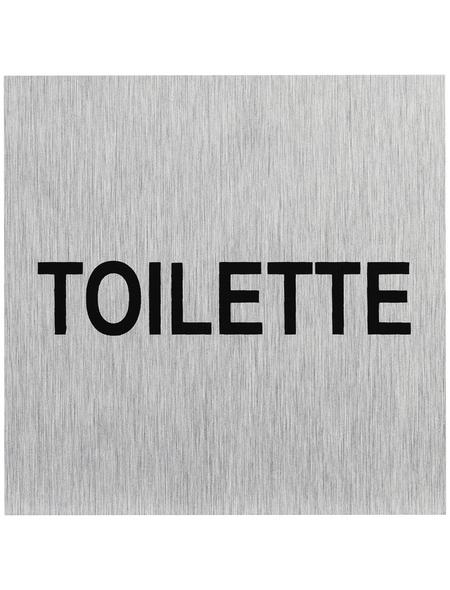 """SEILFLECHTER Schild, """"Toilette"""", BxH: 6 x 6 cm"""