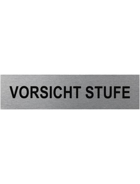 "SEILFLECHTER Schild, ""Vorsicht Stufe"", BxH: 16 x 4 cm"