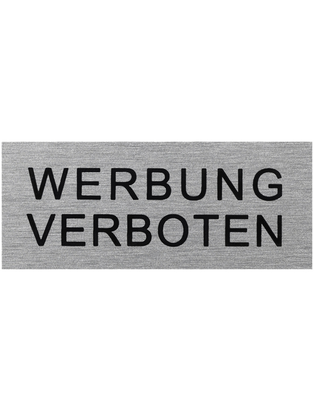 "SEILFLECHTER Schild, ""Werbung verboten"", BxH: 6 x 2,5 cm"