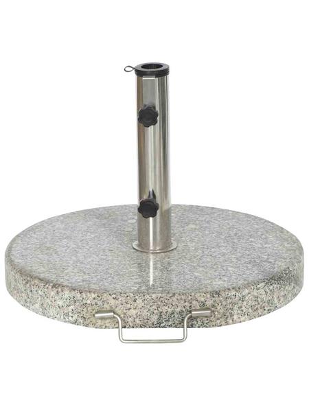 SIENA GARDEN Schirmständer, Edelstahl/Granit, ØxH: 50 x 9 cm