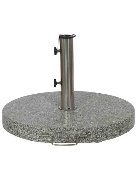 SIENA GARDEN Schirmständer, Edelstahl/Granit, Rohrdurchmesser: 25 - 48 mm