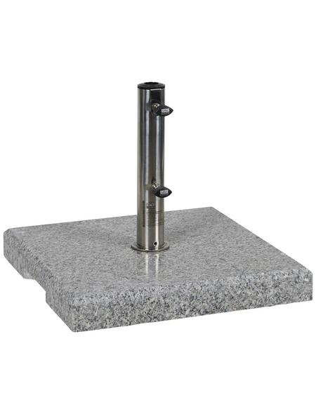 CASAYA Schirmständer »GARDEN LIVING«, Edelstahl/Granit, BxHxL: 44 x 6 x 45 cm