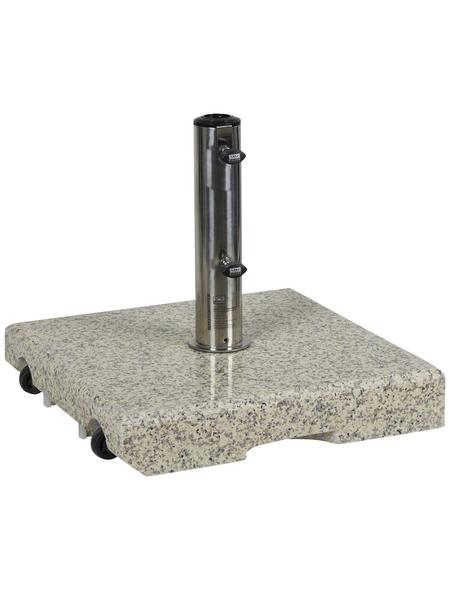 CASAYA Schirmständer »GARDEN LIVING«, grau, geeignet für Sonnenschirme bis max. Ø 250 cm und Ständer mit Ø 32/38/48/52/60 mm