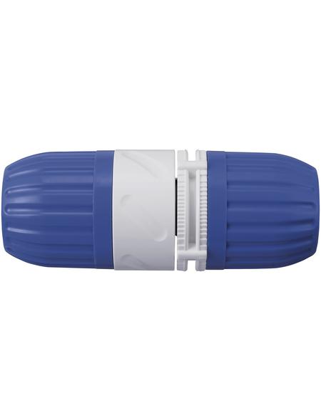 takagi Schlauchkupplung »G015EX«, Länge: 7,5 cm, Kunststoff, weiß/blau