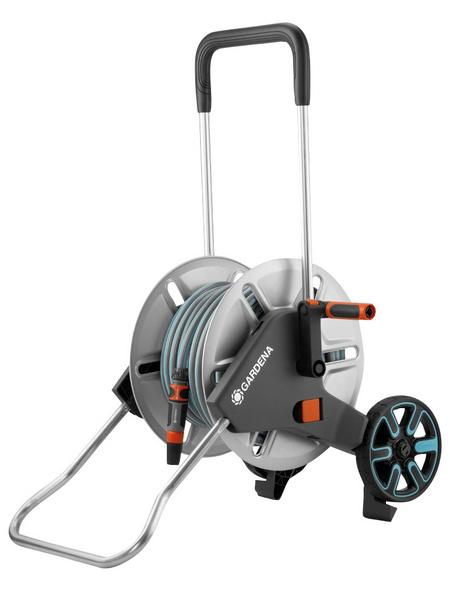 Schlauchwagen-Set, Schlauchlänge: 30m, schwarz/orange/tuerkis/aluminiumfarben