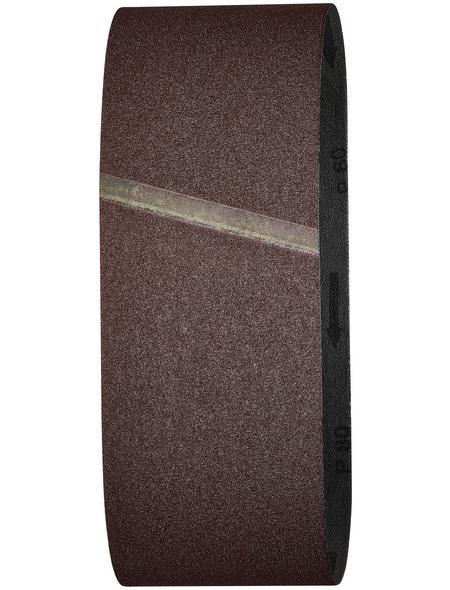 WOLFCRAFT Schleifband, Körnung: K80, rot