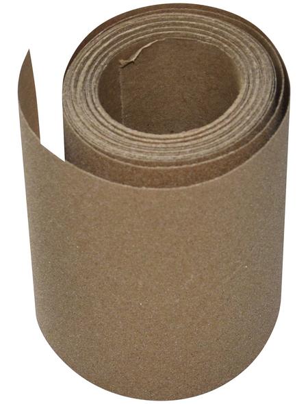 RENOVO Schleifpapierrolle, Braun, 5 m x 115 mm, Körnung 100