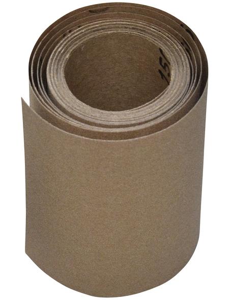 RENOVO Schleifpapierrolle, Braun, 5 m x 115 mm, Körnung 150