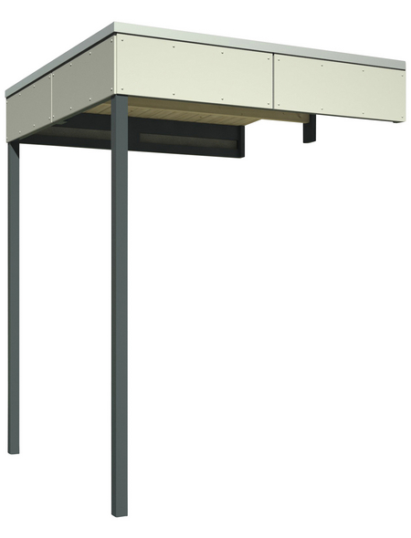 SKANHOLZ Schleppdach »Sydney, Perth, Melbourne, Brisbane 2«, Breite: 168 cm, Dach: Holz, telegrau