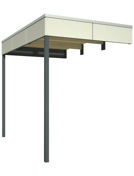 SKANHOLZ Schleppdach »Sydney, Perth, Melbourne, Brisbane 3 + 4«, Breite: 168 cm, Dach: Holz, telegrau