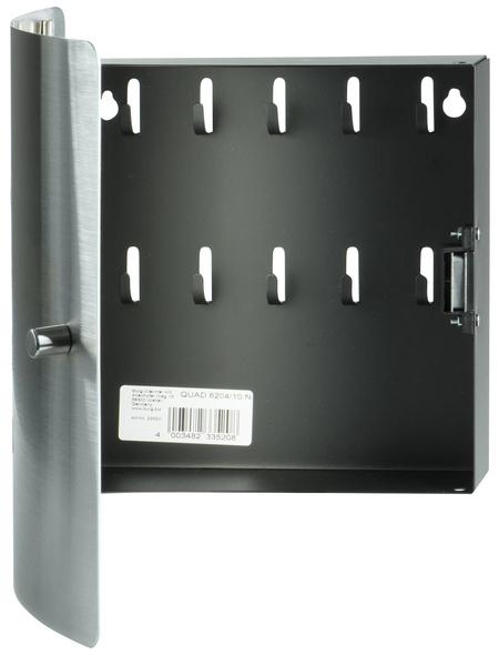 BURG WÄCHTER Schlüsselbox Quad 6204/10 Ni Edelstahl