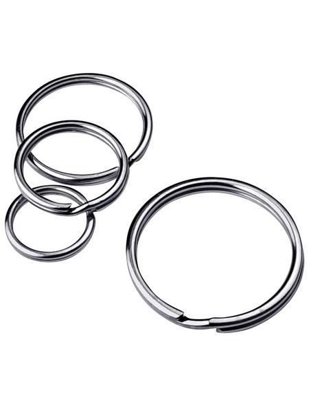 GECCO Schlüsselringsortiment Stahl, 15 Stück