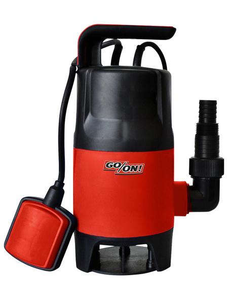 GO/ON! Schmutzwasser-Tauchpumpe, 400 W, Fördermenge: 7500 l/h