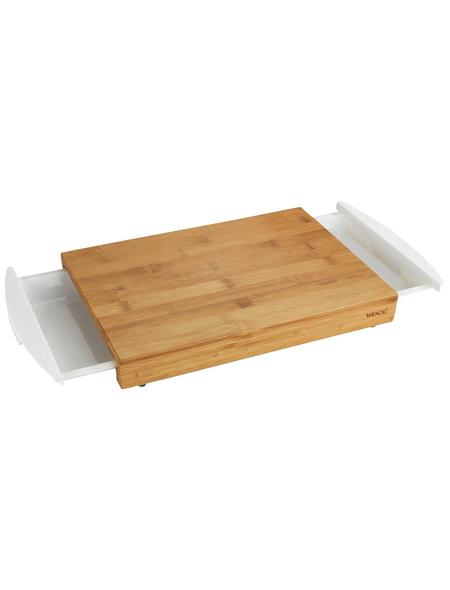WENKO Schneidebrett Bina Küchenbrett, Schneidebrett mit 2 ausziehbaren Auffangschalen/Tabletts, Bina