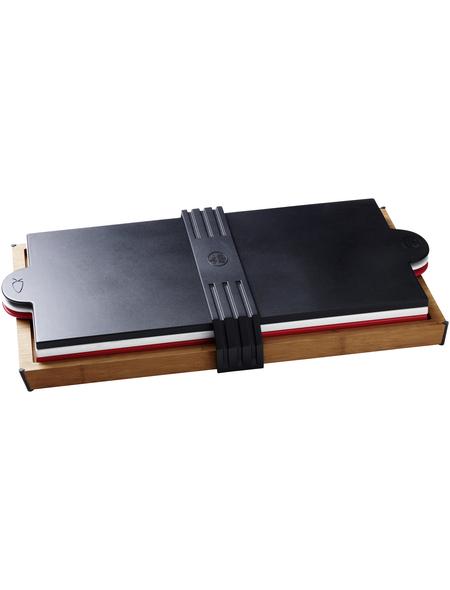 WEBER Schneidebrett, Breite: 29,6 cm, aus Holz/Vinyl