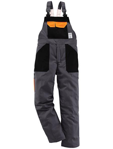 SAFETY AND MORE Schnittschutz-Latzhose EVO Polyester/Baumwolle anthrazit Gr. XL