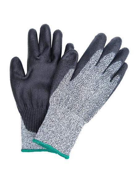MR. GARDENER Schnittschutzhandschuhe, Größe: 8, grau/schwarz, Nitrilbeschichtet