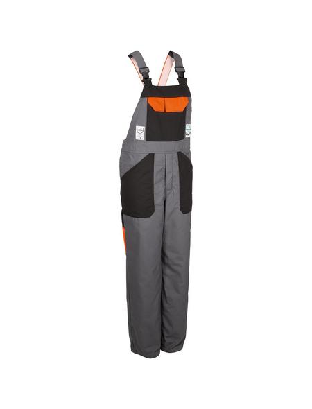 SAFETY AND MORE Schnittschutzlatzhose »EVO«, Anthrazit, Verstellbare Träger