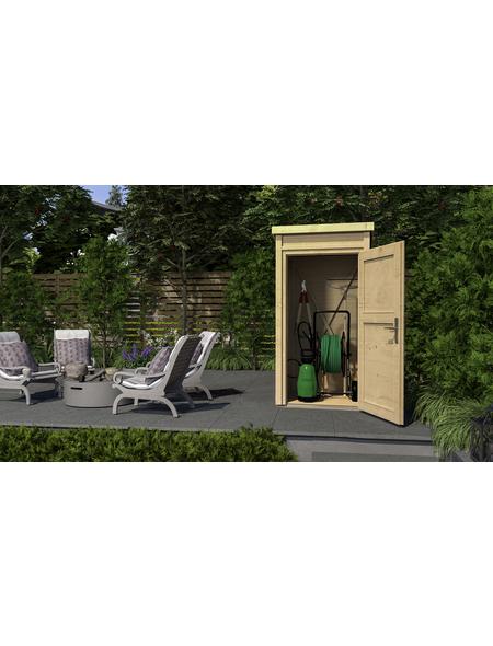 WEKA Schrank »Das kleine Gartenhaus«, BxT: 109.6 x 106.2 cm, Pultdach